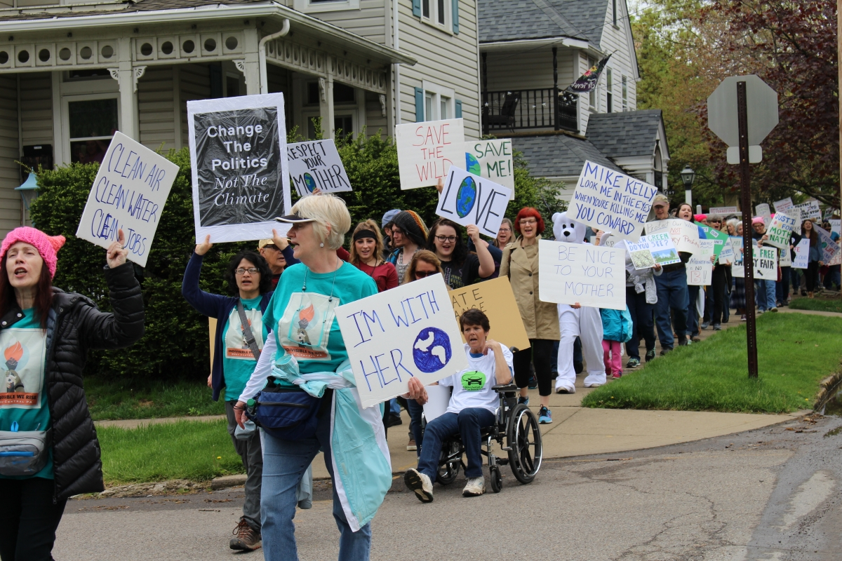 Earth Day March in Butler, 2017